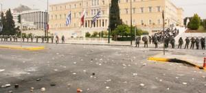 Edificio del Parlamento Helénico tras manifestación - George Laoutaris vía Flickr